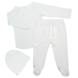 Organic Cotton White Baby Set
