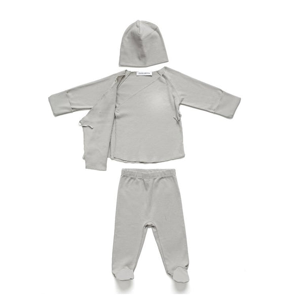 Organic Cotton Grey Baby Set