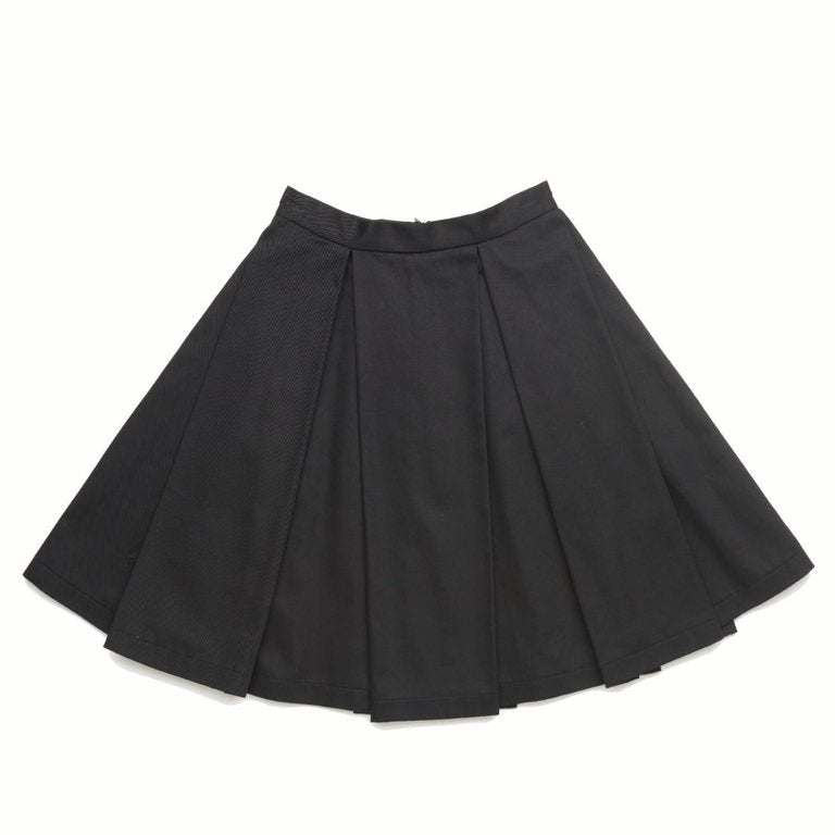 Black Big Pleated Skirt