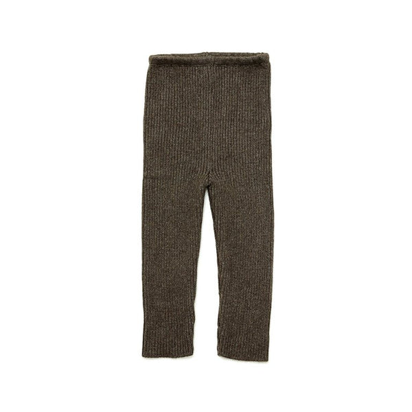 Brown Knit Ribbed Pant