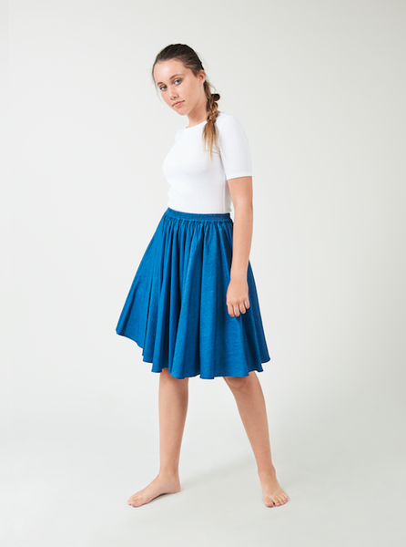 Circle Denim Skirt