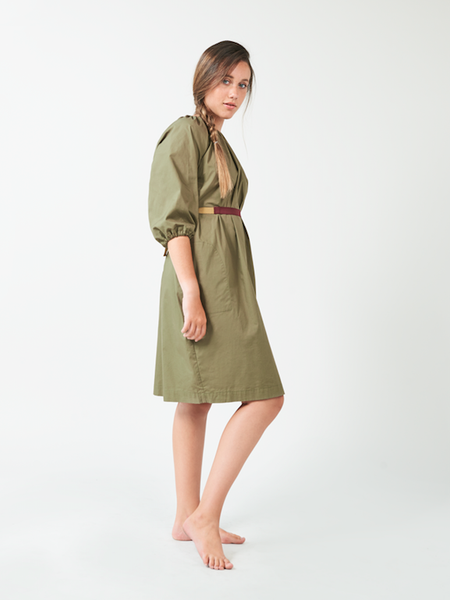 Khaki Bubble Dress