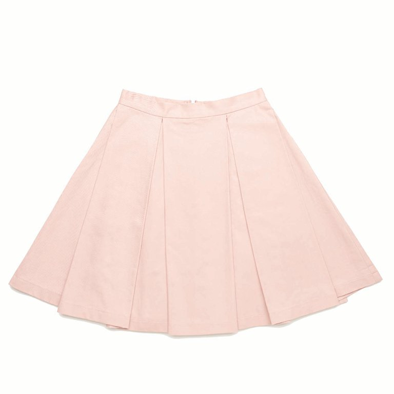 Pink Big Pleated Skirt