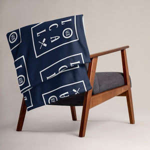 Navy Local Throw Blanket