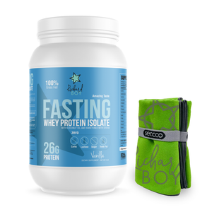 Fasting Whey Protein + Microfiber small towel