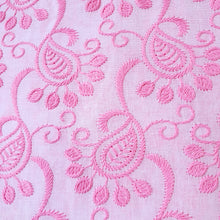 Load image into Gallery viewer, Paisley Design in Multiple Colors - 2x2 Embroidered Rubia Cotton Fabric