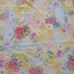 Floral Print Giza Cotton Fabric