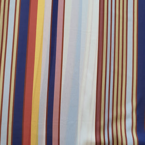 Digital Print on Georgette Fabric - Multi Colored Stripes- Two Color Options