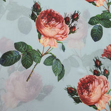 Load image into Gallery viewer, Large Floral Digital Print on Georgette Fabric - White Base
