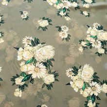 Load image into Gallery viewer, Floral Digital Print on Georgette Fabric - Mehndi Green