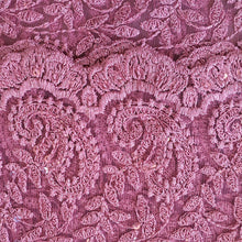 Load image into Gallery viewer, Paisley Pattern on Embroidered Net Fabric