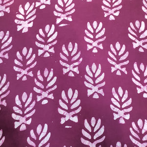 Batik Screen Print on Modal Cotton Fabric - Multiple Colors