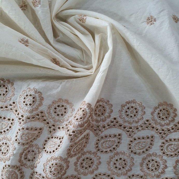 Zari Work on Kora Cotton