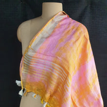 Load image into Gallery viewer, Pure Linen Dupatta - Pink & Orange