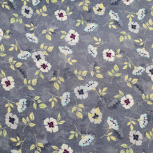 Load image into Gallery viewer, Floral Print on Cotton Muslin Fabric - Gray Base