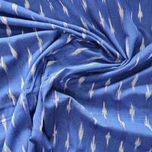 Load image into Gallery viewer, Blue Woven Single Ikat Cotton Handloom Fabric