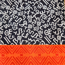 Load image into Gallery viewer, Black Cotton Abstract  Handblock Block Print Fabric