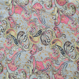 Floral Digital Print on Viscose Crepe Fabric