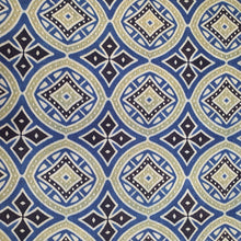 Load image into Gallery viewer, Indigo Blue & Black Ajrakh on Mashroo Silk Fabric