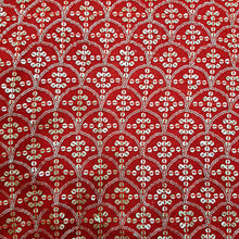 Load image into Gallery viewer, Red Georgette  Embroidered Fabric