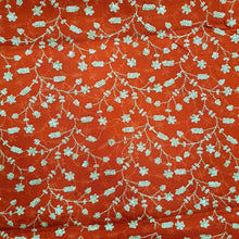 Load image into Gallery viewer, Red Sequence Jaal All Over Viscos Georgette  Embroidered Fabric