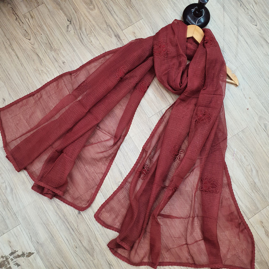 Kota dupatta brick colour