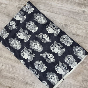 Black  Cotton Kantha Screen Print.