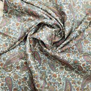 Dark Grey Viscose Tussar Digital Print