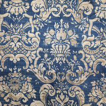 Load image into Gallery viewer, Navy Blue Viscose Tussar Digital Print