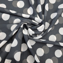 Load image into Gallery viewer, Black & White Polka Dot Georgette Digital Print