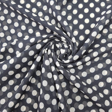 Load image into Gallery viewer, Black & White Medium Size Polka Dot Georgette Digital Print