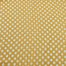 Load image into Gallery viewer, Yellow & White Medium Polka Dot Georgette Digital Print