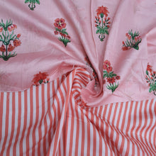 Load image into Gallery viewer, Gajri Pink Glace Cotton Digital Print Top & Bottom-2.5mtr each
