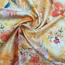 Load image into Gallery viewer, Mango Yellow Pure Spun Digital Printed Fabric