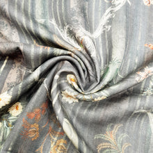 Load image into Gallery viewer, Grey Design Pure Spun Digital Printed Fabric