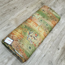 Load image into Gallery viewer, Green Pure Spun Digital Printed Fabric
