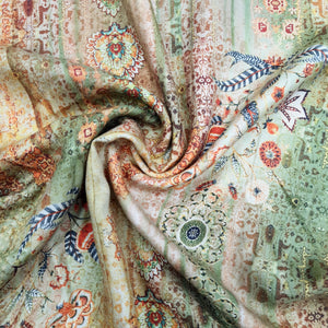 Green Pure Spun Digital Printed Fabric