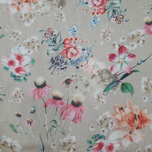 Beige Pure Spun Digital Printed Fabric