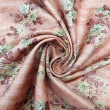 Load image into Gallery viewer, Blush Pink Viscose Tussar Digital Print