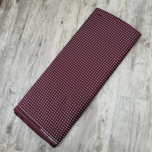 Load image into Gallery viewer, Dark Maroon Glace Cotton Polka Dot