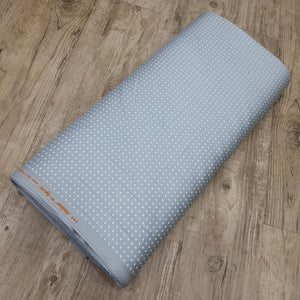 Light Grey Glace Cotton Polka Dot