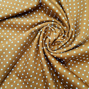 Mustard Glace Cotton Polka Dot