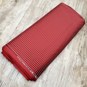 Reddish Maroon  Glace Cotton Polka Dot