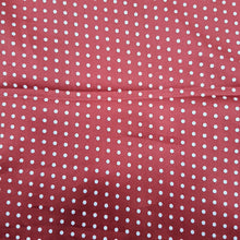 Load image into Gallery viewer, Reddish Maroon  Glace Cotton Polka Dot