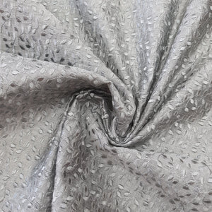 Steel Grey Chanderi  Silk  Emroidered Fabric