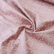 Load image into Gallery viewer, Onion Pink Chanderi  Silk  Emroidered Fabric