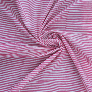 Pink Rajasthani Hand Block Print on Cotton Fabric