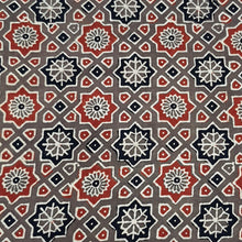 Load image into Gallery viewer, Brown Base Ajrakh Hand Block Printed Pure Cotton Natural Dyed Fabric