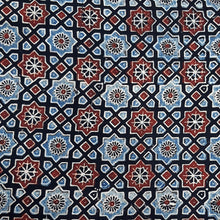 Load image into Gallery viewer, Black Base Ajrakh Hand Block Printed Pure Cotton Natural Dyed Fabric