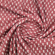 Load image into Gallery viewer, Maroonish Red Ajrakh Hand Block Printed Pure Cotton Natural Dyed Fabric